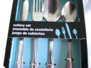 16 mcx. couteaux, fourchettes, cuilleres