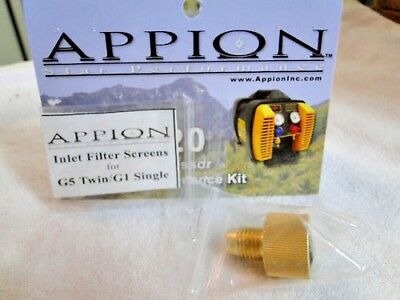 Appion Parts Inlet Filter Fitting Part Ktf612 Includes O-ring One Screen