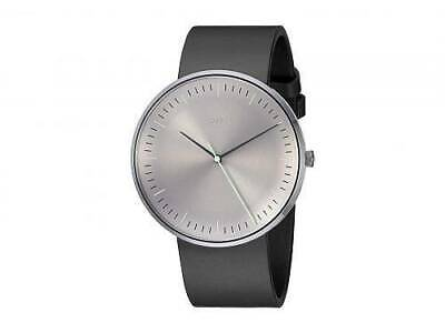 Fossil Watch Essentialist Three-Hand Black Leather Watch FS5483 Mens
