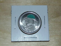 2011 CANADA .25 GREEN BISON COIN