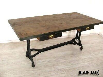 cooler Schreibtisch im Industrie Design Fabrikdesign, Metall  Loft Tisch Vintage