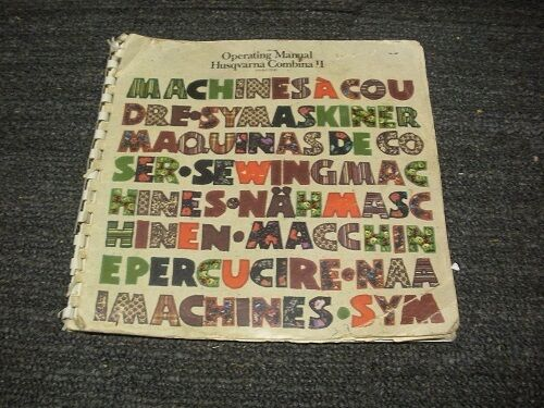 Husqvarna Sowing Machine Manal 9 Sewing Machines
