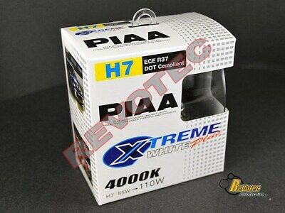 Piaa H7 Xtreme White Plus Halogen Replacement Bulbs Twin Pack 17655 Xtreme White Plus Replacement Bulbs