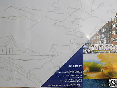 Kanevasplatte 30*40 cm Landschaft 2   neu