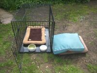 Puppy / Small Dog crate and accessories. Suitable for house/garden use. As good as new