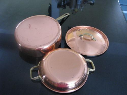 vintage copper pots pans ebay. Black Bedroom Furniture Sets. Home Design Ideas