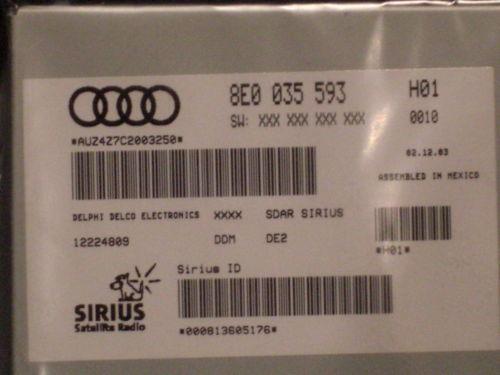 Audi Sirius Module Parts Amp Accessories Ebay