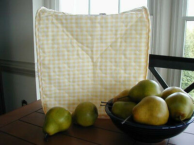 Yellow Gingham Appliance Cover fits Kitchen Aid Mixers, quilted fabric