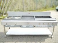 ROTOQUIP BESPOKE FLAME GRILL CHARCOAL GRILL + ASIAN COOKER COMBINED / KEBABISH STYLE/ NAT GAS & LPG
