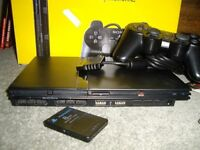 Sony PlayStation 2 (PS2) Slim Black Console with sports games