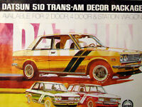 1972 Datsun 510: Ultra Rare Authentic Trans Am Décor Package Car