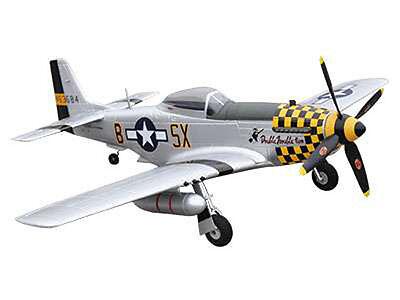 RC Flugzeug Motorflugzeug Mustang P-51D yellow PNP 4 Kanal SW 75 cm NEU