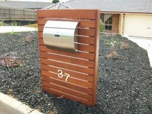 MPB1402 Semi Curve Lockable Wall Mounted Mailboxes Stainless Steel Mailboxes Modern Urban Style