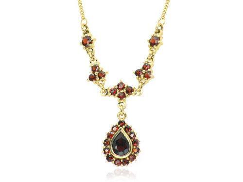 7a85b9bcf 9ct Gold Garnet Necklace   eBay