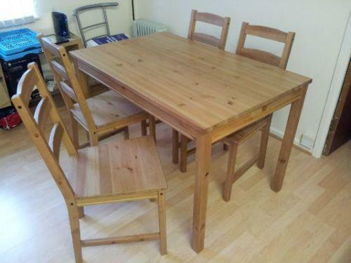 ikea table and 4 chairs ebay