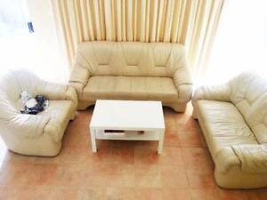 Real leather 6 seats Sofa Balcatta Stirling Area Preview