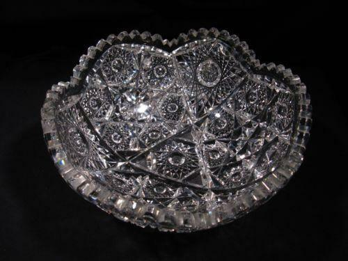 Antique Crystal Bowl Ebay