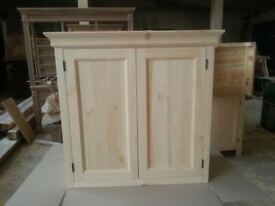 Solid pine kitchen wall cupboard