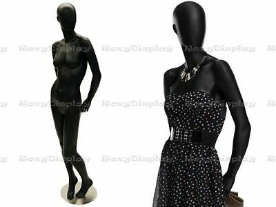 Female Fiberglass Satin Black Mannequin Egg Head Roxy Display Mz-ozib2