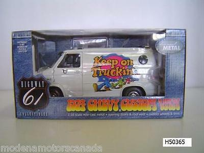 1974 CHEVY CUSTOM VAN WHITE KEEP ON TRUCKIN 1:16 Scale HIGHWAY 61 RARE BRAND