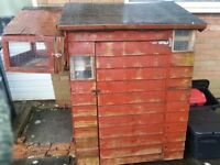 Guinea Pig / Rabbit / Tortoise shed hutch with balcony and heater
