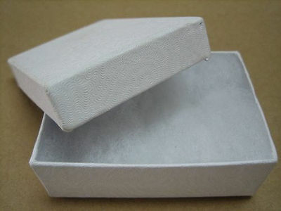 Jewelry Gift Boxes 100 21 White Swirl Earring Cotton 2 1116 X 1 58 X