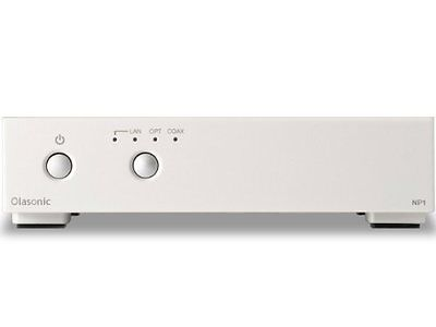 NEW OFFICIAL Olasonic Network audio player-Platinum white NANO-NP1