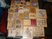 Rubber Stamp Wood Blocks