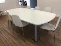 large office meeting boardroom conference table Impulse desk white 12 ikea chair