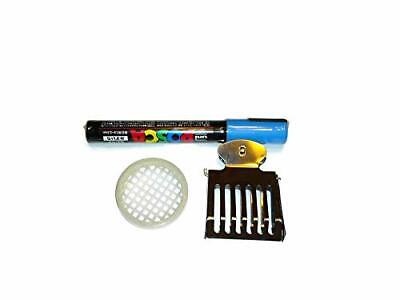 Posca Queen Bee Blue Color Marking Pen Kit Push In Queen Cage Clip Catch