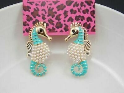 Betsey Johnson faux pearl Seahorse earrings Betsey Johnson Faux Earrings