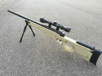 Used, One AIrSoft Tan WELL Tactical L96 AWP Airsoft Sniper Rifle W/ Scope + Bipod for sale  Troy