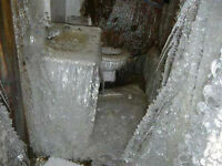 PREVENTING AND REPAIR OF FROZEN PIPES UNDER MODULAR HOMES