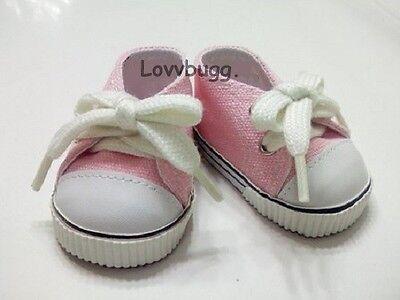 """Lovvbugg Pink Sneakers Doll Shoes for 18"""" American Girl  Lovvbugg!"""