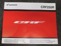 Honda CRF250r Owners Manual 2016 to swap