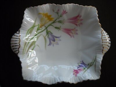 Shelley England Fine Bone China Trinket Dish Lily Flowers & Gold Accent