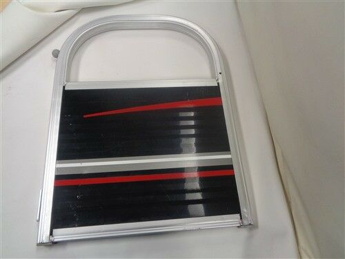 "TRACKER PONTOON GATE ALUMINUM BLACK / RED 25 1/2"" X 19"" MARINE BOAT"