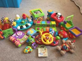 Baby Huge 13 Toy Bundle Mainly includes Vtech & Fisher Price plus Bruin & ELC Ideal Christmas