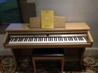 Roland HP-2E Digital Piano in Oak colour, Full Size 88 weighted keys,3 pedals, matching stool