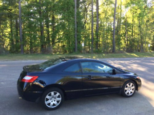 2008 HONDA CIVIC BLACK COUPE 5 SPEED (FULLY CERTIFIED) 1.8L