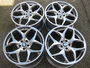 "Nice - GENUINE BMW X5 X6 21"" Rims style 215 21X10 and 21x11.5"