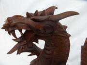 Wood Hand Carved Dragon
