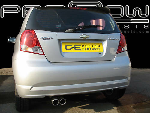 CHEVROLET KALOS STAINLESS STEEL CUSTOM BUILT EXHAUST SYSTEM TWIN TAIL PIPE