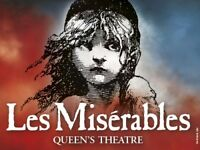 2 x Les Miserables Tickets Tonight Thursday 14 December at 7:30pm