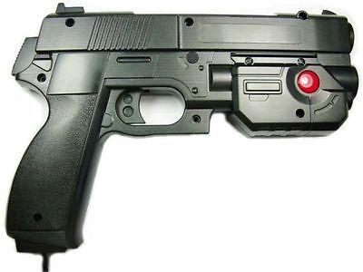 """AimTrak Light Gun Boxed """"BLACK"""" With NEW RECOIL(Excl PSU) works on mame/ps2/ps3,"""