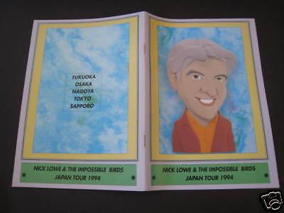 Nick Lowe 1994 Japan Tour Program Book Costello Stiff
