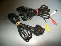 Playstation 1/2 AV & power cables