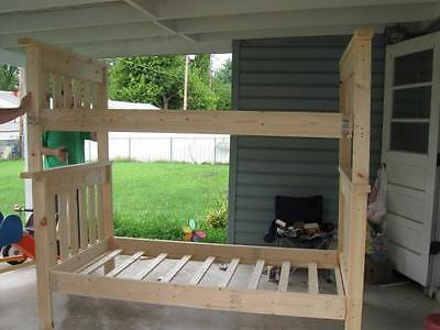 do it yourself building a full over full bunk bed ebay. Black Bedroom Furniture Sets. Home Design Ideas