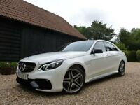 MERCEDES BENZ E63 AMG POLAR WHITE NIGHT PACKAGE MB WARRANTY