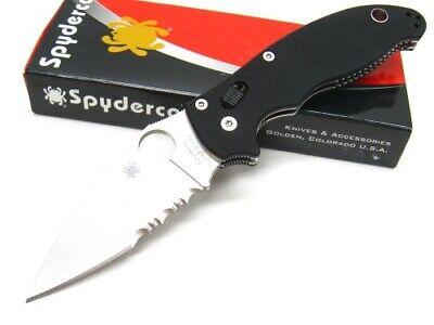 Spyderco C101GPS2 Black G-10 Manix 2 Combo Edge Kn